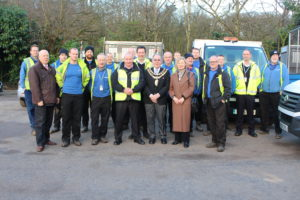 Brabyns Park team with the Mayor of Stockport