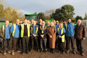 Bruntwood parks team with the Mayor of Stockport
