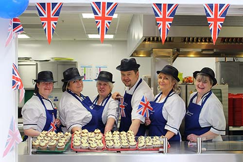 Totally Local Catering Team Celebrating the Royal Wedding