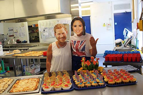 The schools even had some royal visitors for their street parties