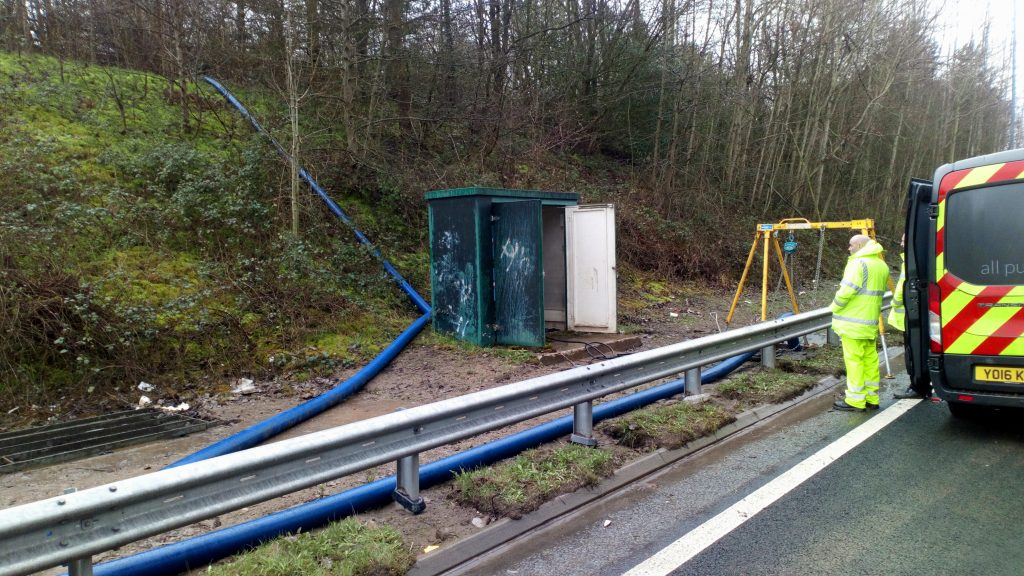 A555 Broken pumping station