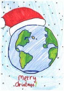 1st prize Winner Christmas Card Design
