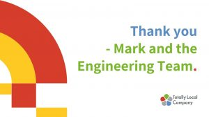 wording = thank you to mark and the engineering team