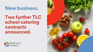 Wording - new business - two further TLC school catering contracts announced, healthy image including fruit and seeds